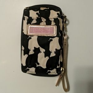 Cat Silhouette Cell Phone Wristlet